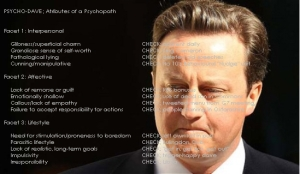 Attributes of Psychopathy. They've all got 'em!